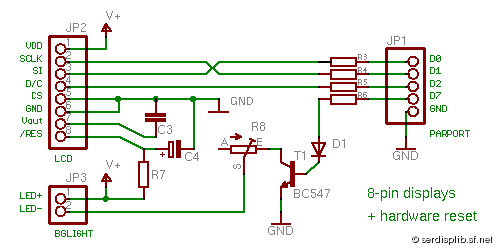 [pcd8544: circuit 8-pin displays with hardware reset]
